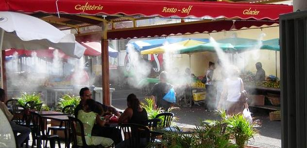Terrasses de cafés - bars-brumisation